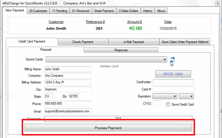 The EBizCharge QuickBooks integration lowers QuickBooks merchant account fees.
