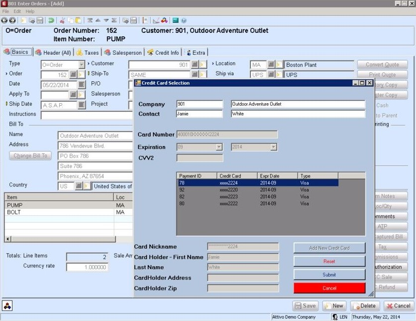 Alternative to PAYware Connect for Exact Macola 10 in action.